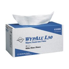 "X 10.8"" White WYPALL* L30 Wipers In POP-UP® Box (120 Per Box)"