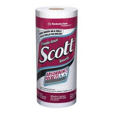 "X 8.78"" White SCOTT® Kitchen Roll Towels (128 Per Roll)"