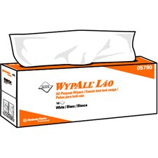 Wypall L40 Wipers, Pop-Up Box in White