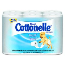 Kleenex Cottonelle Ultra Soft Bath Tissues in White
