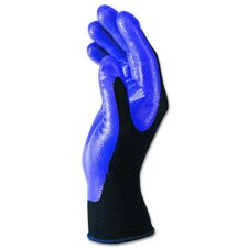 Large Foam-Coated Nitrile Gloves Heavy-Duty DOunceen / Pack in Purple / Black