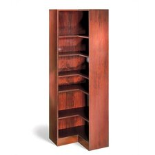 "1100 NY Series 84"" H Seven Shelf Inside Corner Bookcase"