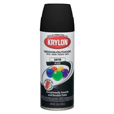 Flat Black Interior/Exterior Decorator Spray Paint Semi