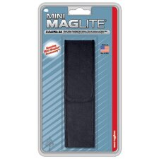 Black Nylon Belt Holster for Mini Mag-Lite AA Flashlight (Black)