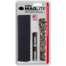 Mini Maglite Camo W/Holster Pack