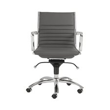 Dirk Low-Back Leatherette Office Chair