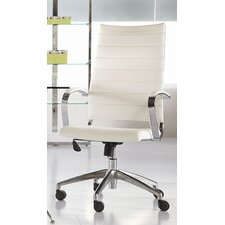 Axel High-Back Leatherette Office Chair with Arms