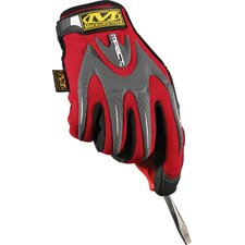 Red M-Pact® Mechanics Gloves With Synthetic Leather Palm And Spandex Top