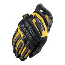 Yellow M-Pact® 2 Mechanics Gloves With Double Layer Synthetic Leather Palm And Spandex Wrist Panel Insert