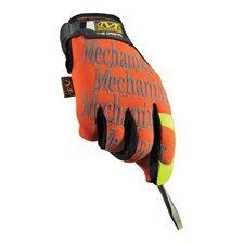 Hi-Viz Orange Original™ Spandex Mechanics Gloves With Clarino Palm And Hook And Loop Closure