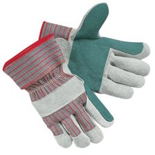 "Industrial Standard Shoulder Split Gloves - jointed double leatherpalm 2-1/2"" rubb safety"