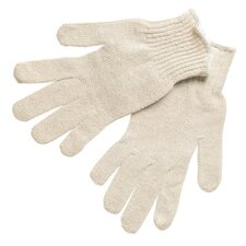 Multi-Purpose String Knit Gloves - large cotton/polyester natural string knit glove