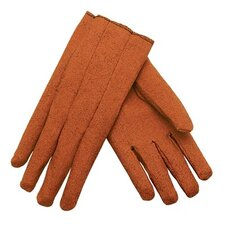 Vinyl Gloves - russet stretch vinyl impregnated gloves slip
