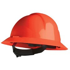 Everest Hard Hats - a-safe red full brim safety hat slotted