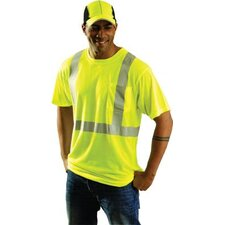 "OccuLux® Yellow Class 2 High Visibility Wicking Polyester T-Shirts With 2"" 3M™ Scotchlite™ Reflective Tape"