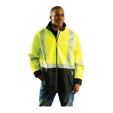Fluorescent Yellow OccuLux® Windy Breathable Polyurethane Windbreaker With 3M™ Scotchlite™ Reflective Tape