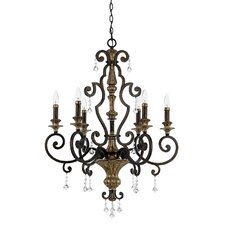 Marquette 6 Up Light Chandelier