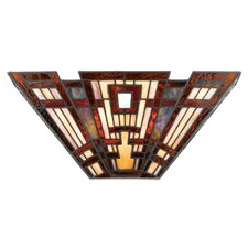 Classic Craftsman Tiffany 2 Light Wall Sconce