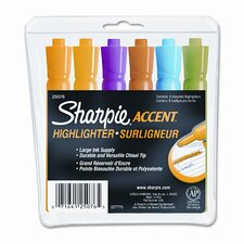 Accent Tank Style Highlighter (Set of 6)