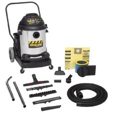 Industrial Flip N' Pour Series Vacuums 15 Gal 2.5 HP Stainless Steel W/Dolly