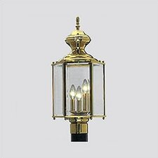 Brass Guard 3 Light Post Lantern