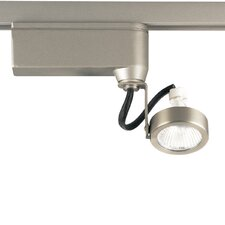 Alpha Track Miniature Halogen Adjustable Track Head in Brushed Nickel