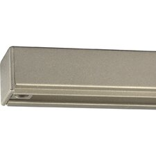 AlphaTrak Brushed Nickel Track Section