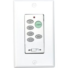 Full-Function Wall Control Transmitter for Downlight Fans in White