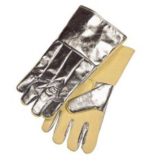"Aluminized Combination Fabric Gloves - 14""glove kevlar palm & inside cuff full wool lnd"