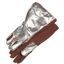 "Special Application Gloves - 17"" aluminized back andbrown thermoleather glov"