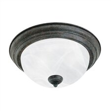 2 Light Alabaster Flush Mount