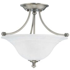 Harmony 2 Light Glass Semi Flush Mount