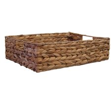 Organize It All Water Hyacinth Flat Basket