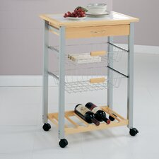 Organize It All Kitchen Cart with Baskets