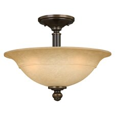 Plymouth 3 Light Semi Flush Mount