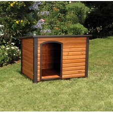 Outback Extreme Log Cabin Dog House in Cedar
