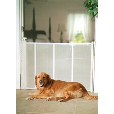 Pet Partition Mesh Pet Gate in White