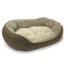 Pillow Soft Daydreamer Bolster Pet Bed in Brown