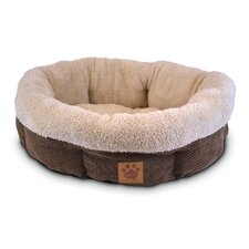 Natural Surroundings Shearling Round Dog Bed