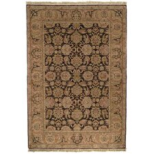 Old World Dark Brown/Gold Agra Rug
