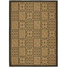 Courtyard Light Brown/Black Rug