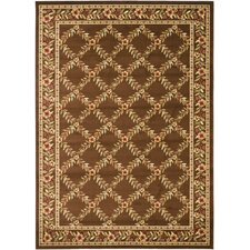 Lyndhurst Brown/Brown Checked Rug