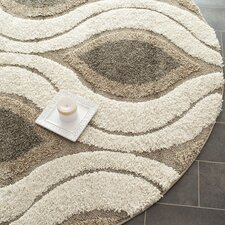 Florida Shag Cream/Smoke Rug