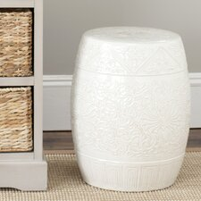 Everest Gardens Embossed Ceramic Garden Stool