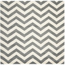 Chatham Dark Grey/Ivory Chevron Rug