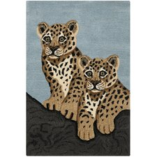 Wilderness Blue/Charcoal Novelty Rug