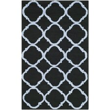 Newport Black / Blue Geometric Rug