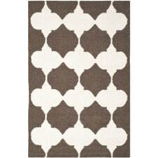 Dhurries Brown / Ivory Rug
