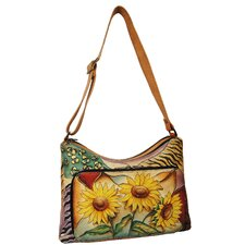 Twin-Top Shouder Bag in Sunflower Safari