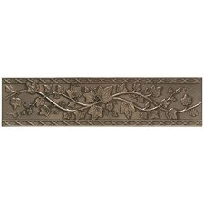 "Artistic Accent Statements Metal 12"" x 3"" English Ivy Decorative Border in Vintage Bronze"